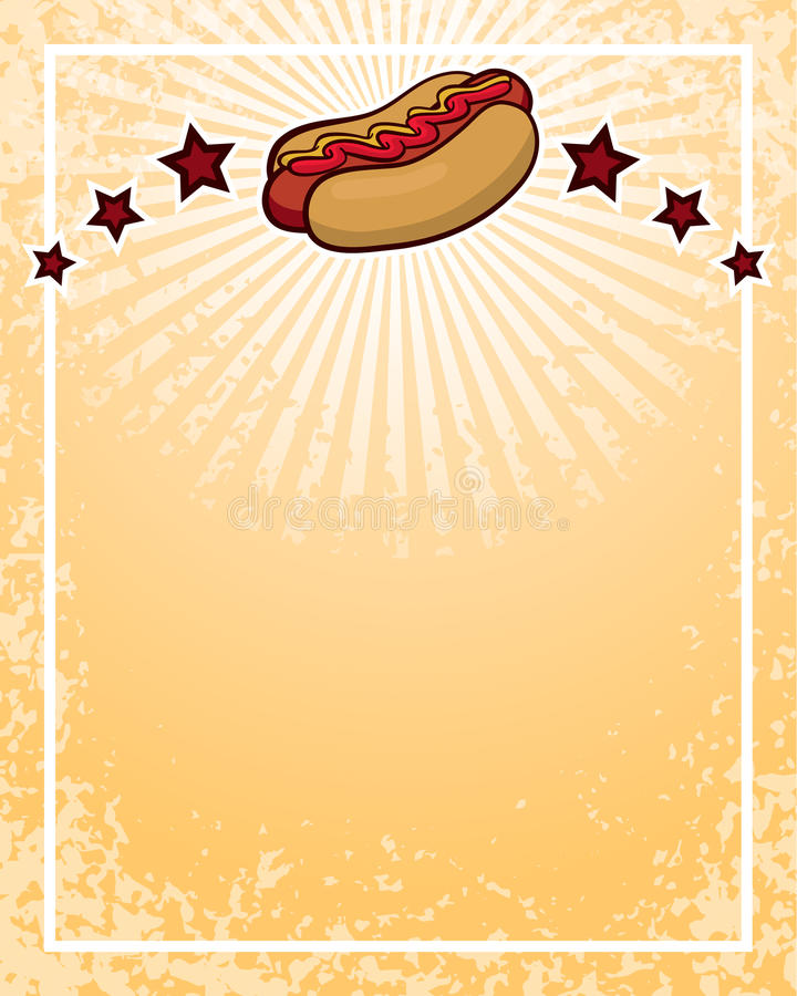 Download Hot Dog Background stock vector. Image of sell, circle - 33805890