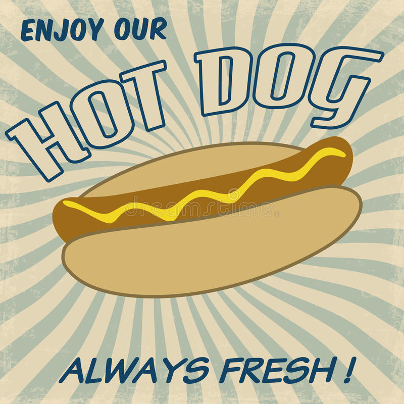 Download Hot dog poster stock vector. Illustration of fashioned - 32093489