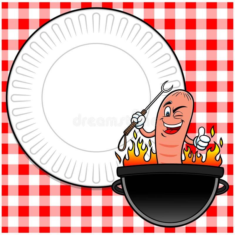Hot Dog przyjęcie Zaprasza royalty ilustracja