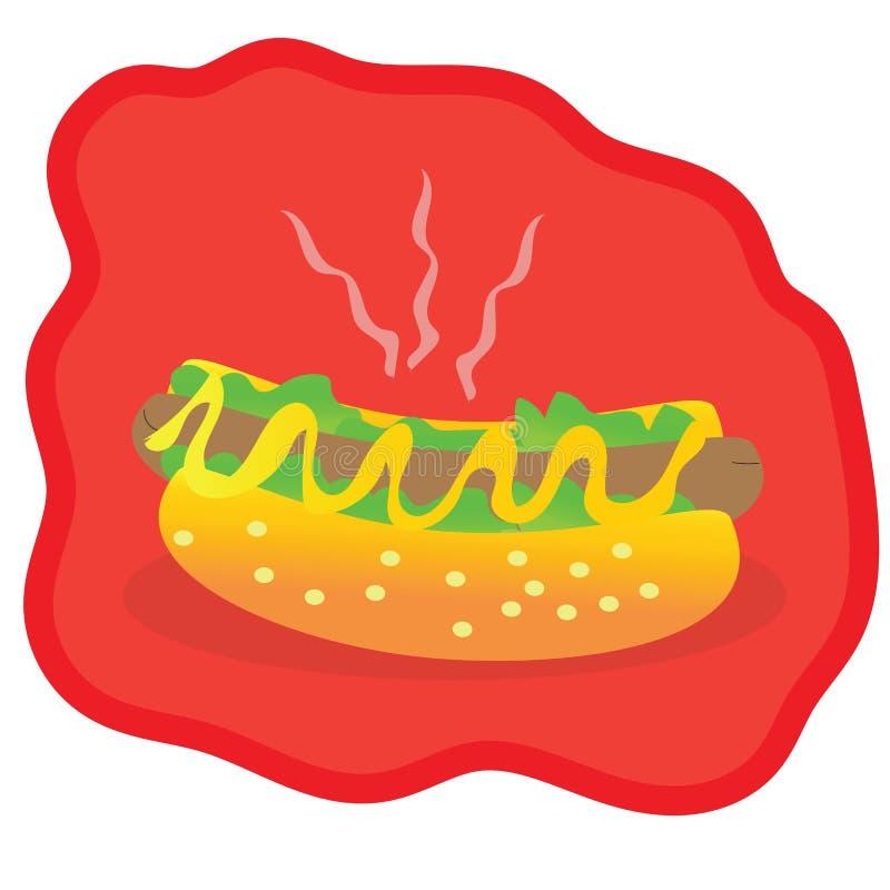 Hot dog squisito immagine stock libera da diritti
