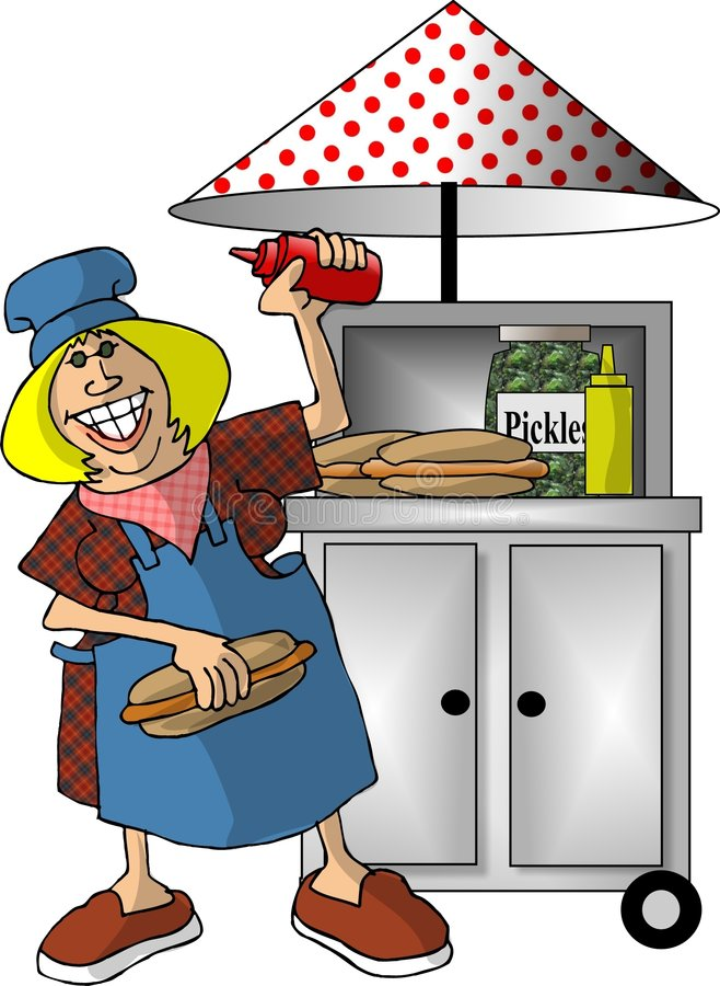 Hot Dog Stand stock illustration