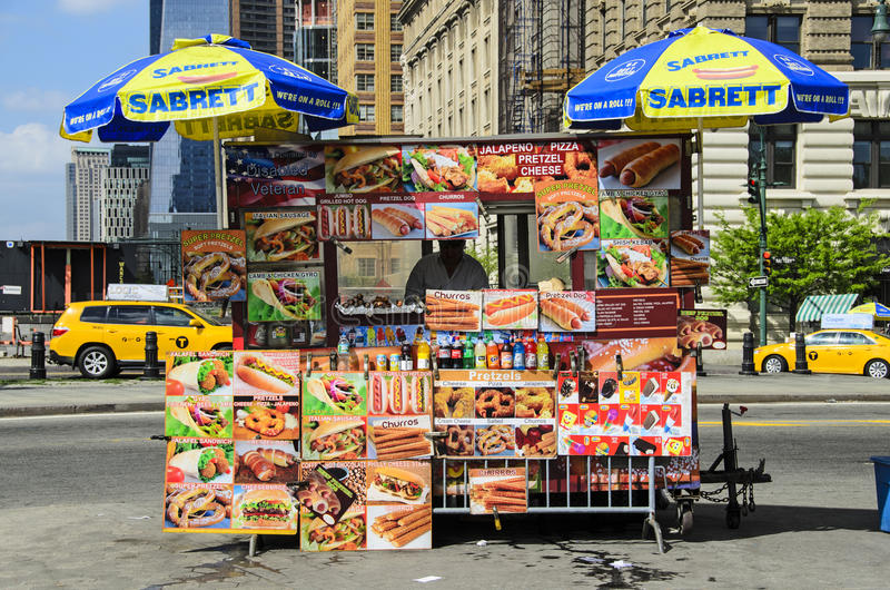 Hot dog stand royalty free stock photos
