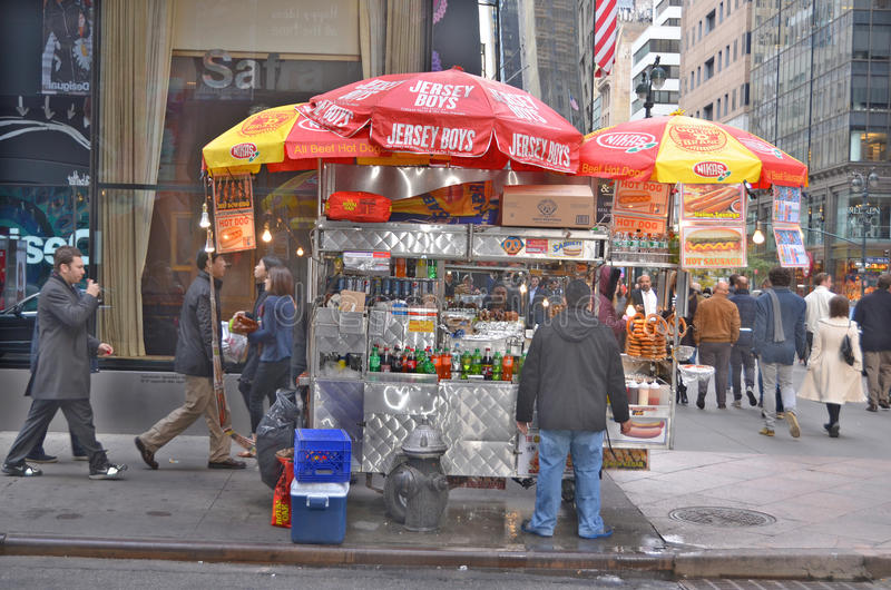 A hot dog stand vendor royalty free stock images