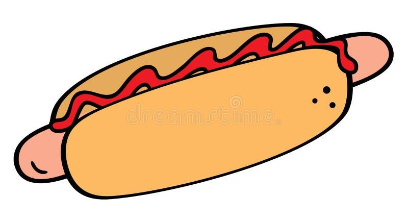 Download Hot-dog symbol stock vector. Image of sausage, simplicity - 25229845