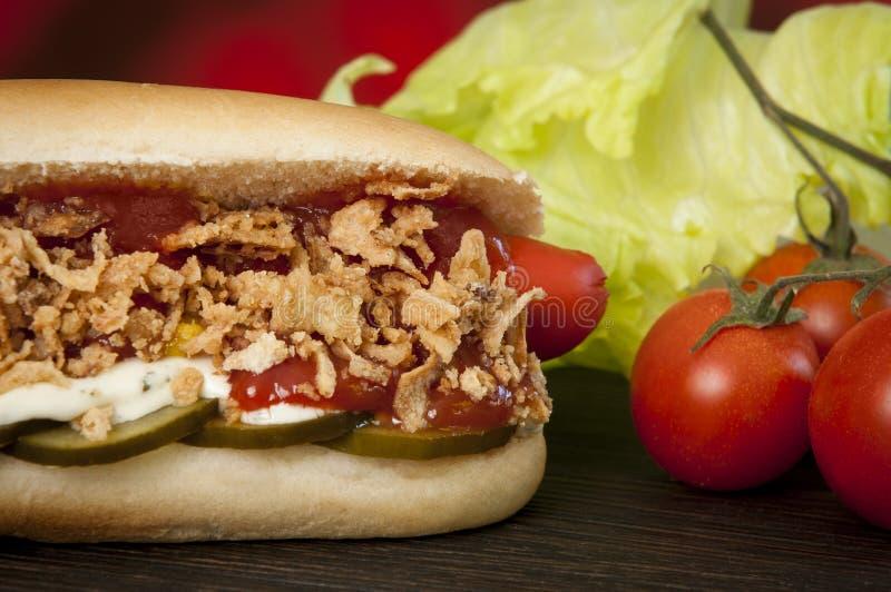 Hot dog tradizionale danese immagine stock libera da diritti