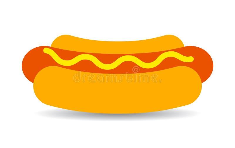 Hot dog wektoru ikona ilustracja wektor