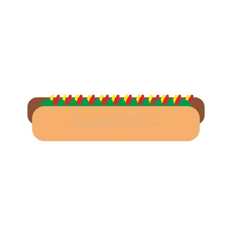 Hot dog z dużą kiełbasą obrazy royalty free