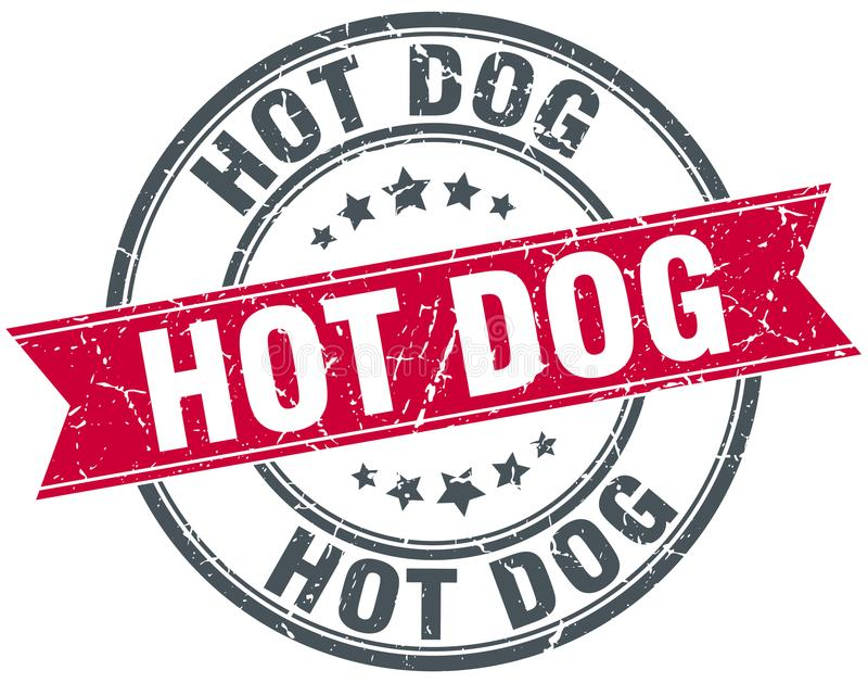 Hot dog znaczek royalty ilustracja