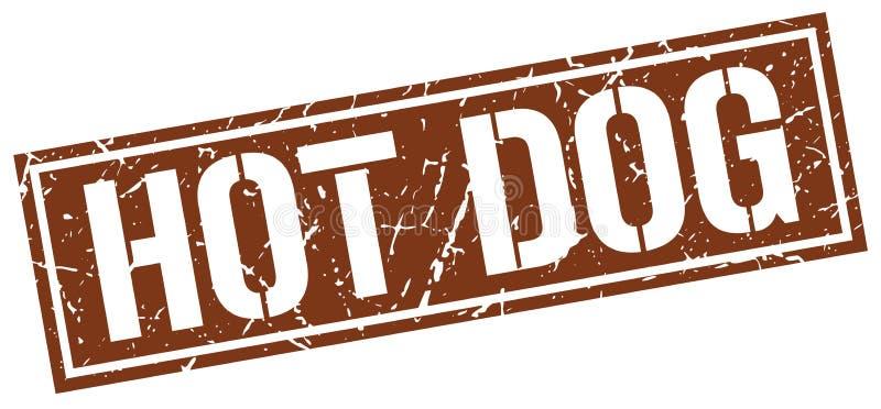 Hot dog znaczek ilustracji