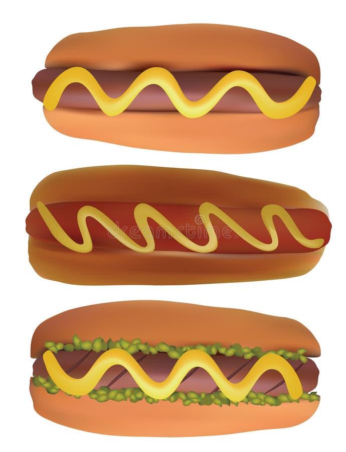 Hot dogs. illustration stock