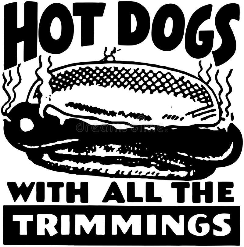 Hot dogs illustration stock
