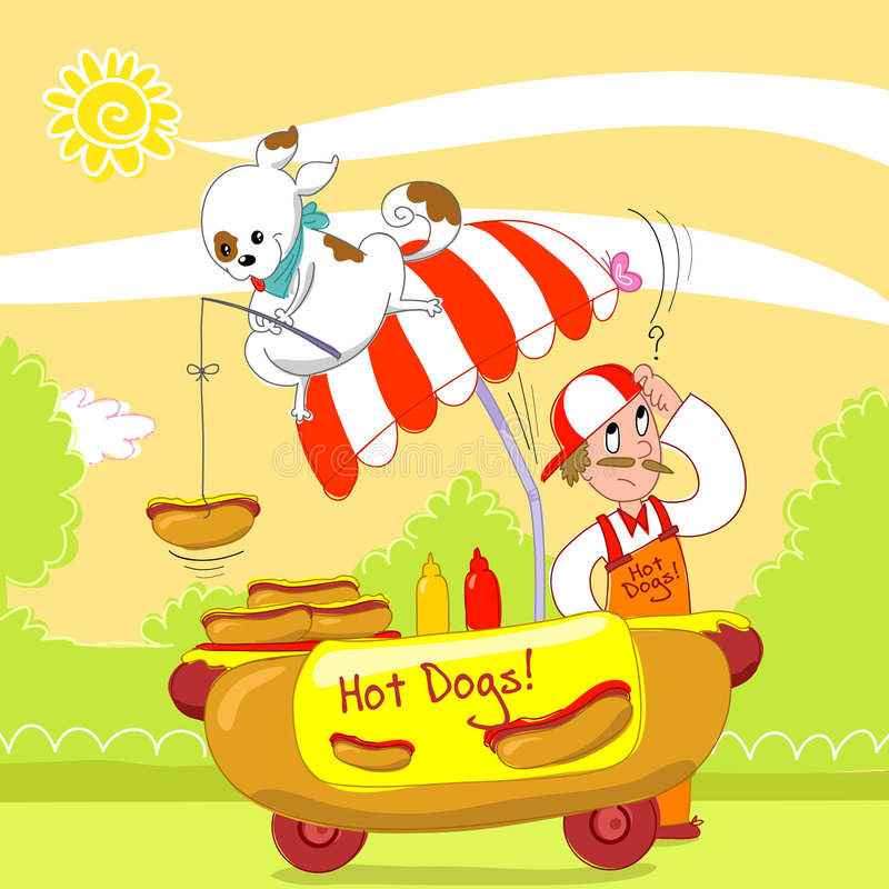 Download Hot dogs humorous vector stock vector. Image of vector - 8151924
