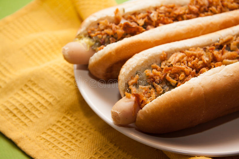 Hot dogs américains images stock