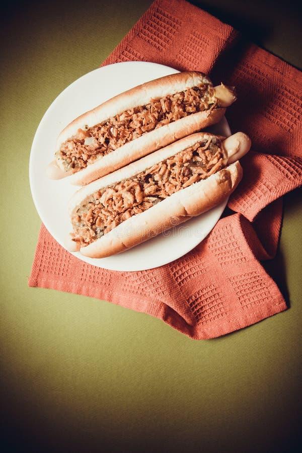 Hot dogs américains photographie stock