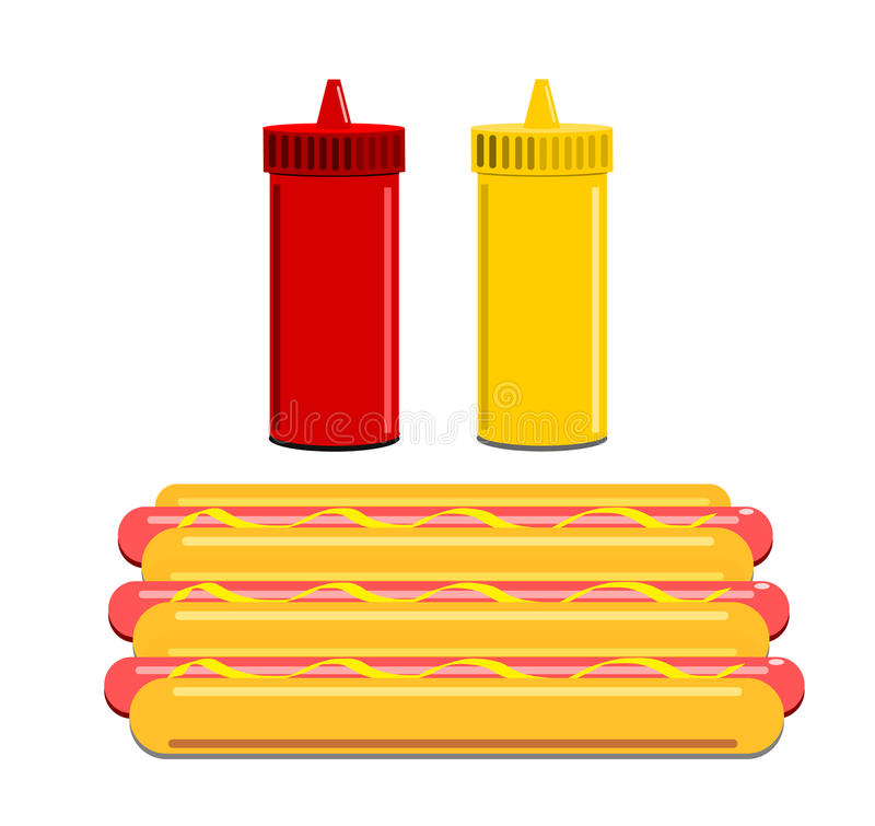 Download Hot Dogs And Condiments Stock Image - Image: 25323141