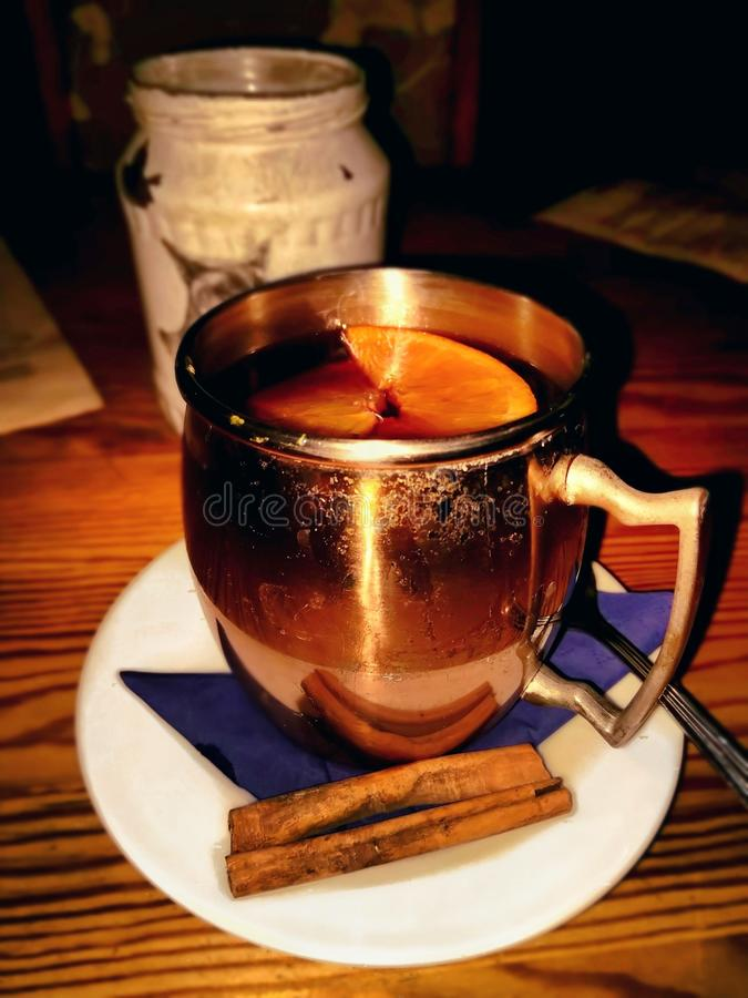 Hot drink in a cold night royalty free stock photo