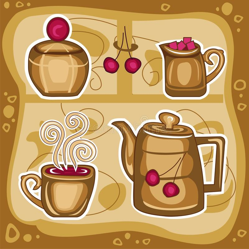 Download Hot drink 1 stock vector. Image of style, shop, clipart - 16577872