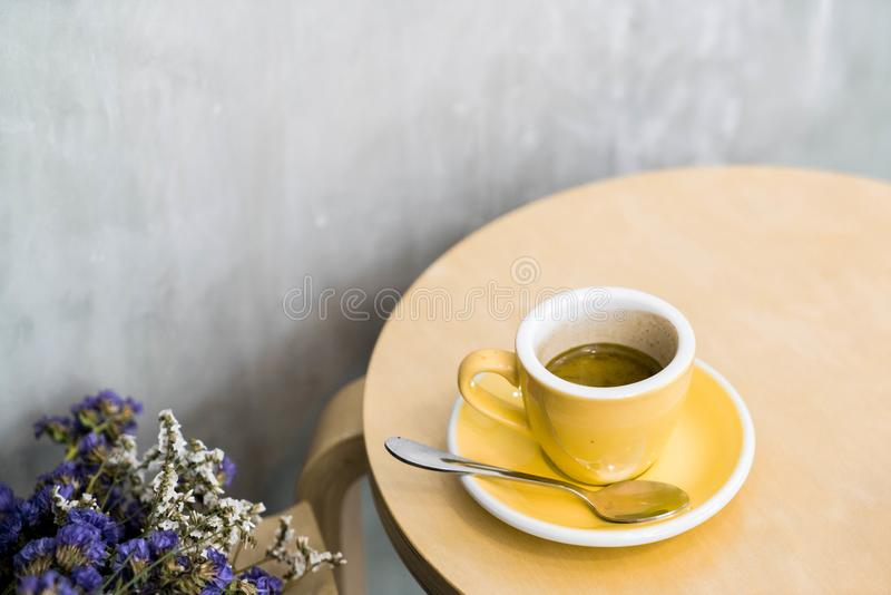 hot expresso coffee stock image