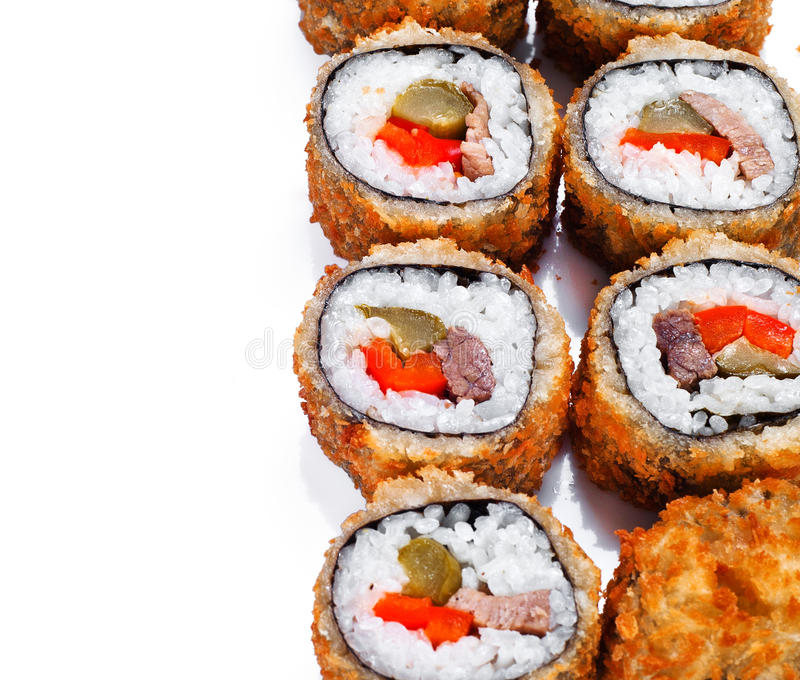 Download Hot Fan Sushi Roll With Tune Stock Image - Image: 27676379