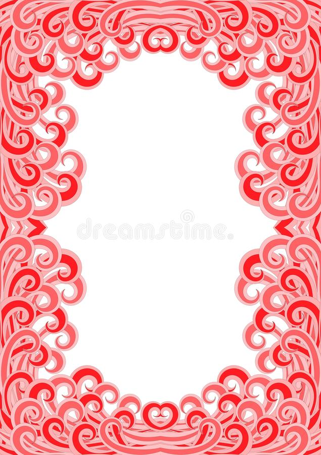 Hot Fire Flames Border Frame. Hot lava wave flames border frame. Can be a frame for an invitation or greeting card stock illustration