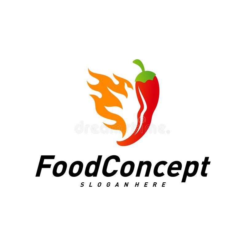 Hot Food Logo Concept Vector Red Chili Logo Design Template