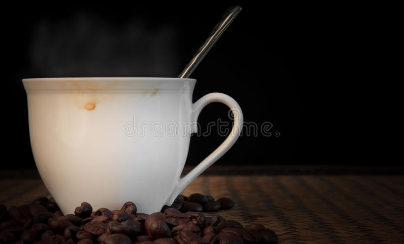 Download Hot Fresh Coffee With Smoke On Cup Stock Photo - Image: 26559254