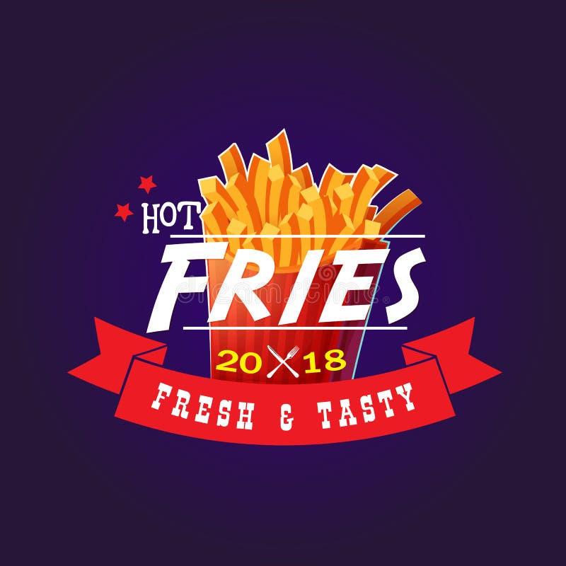 Hot Fries 2018 Fresh & Tasty royalty free stock photos