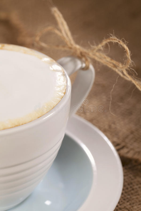Download Hot Frothy Drink Cappuccino Coffee, Rustic Style Stock Image - Image: 18985731