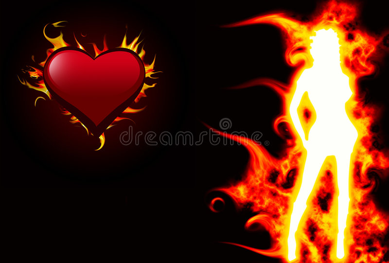 Download Hot girl stock illustration. Illustration of dreamy, blazing - 3959354