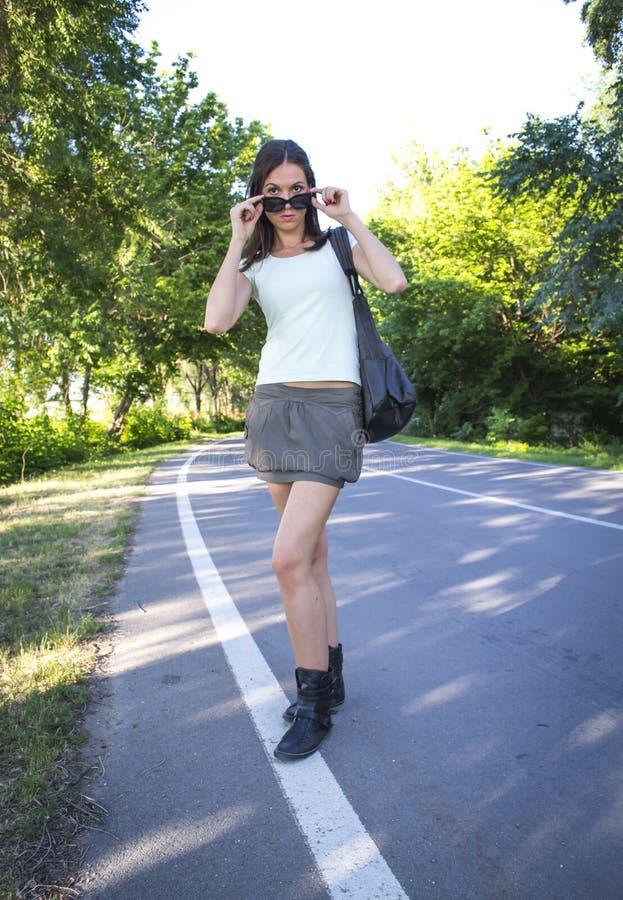 Hot Girl Walking Royalty Free Stock Photo