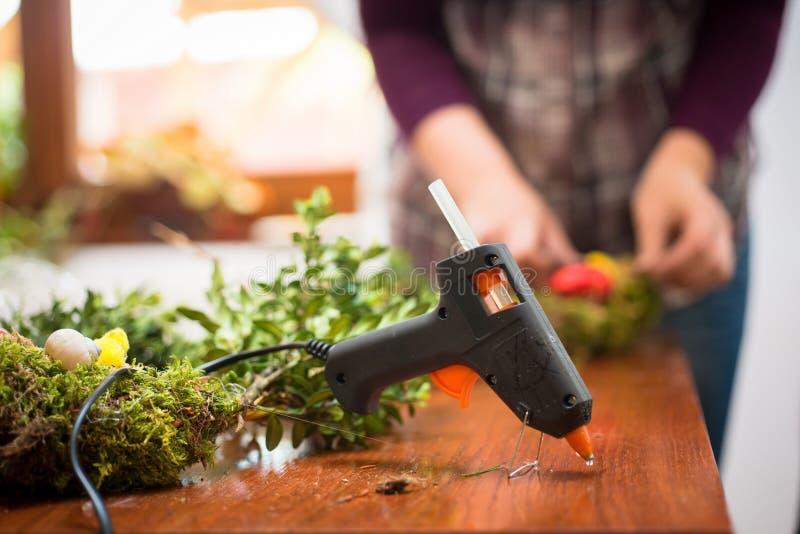 Hot glue gun royalty free stock images