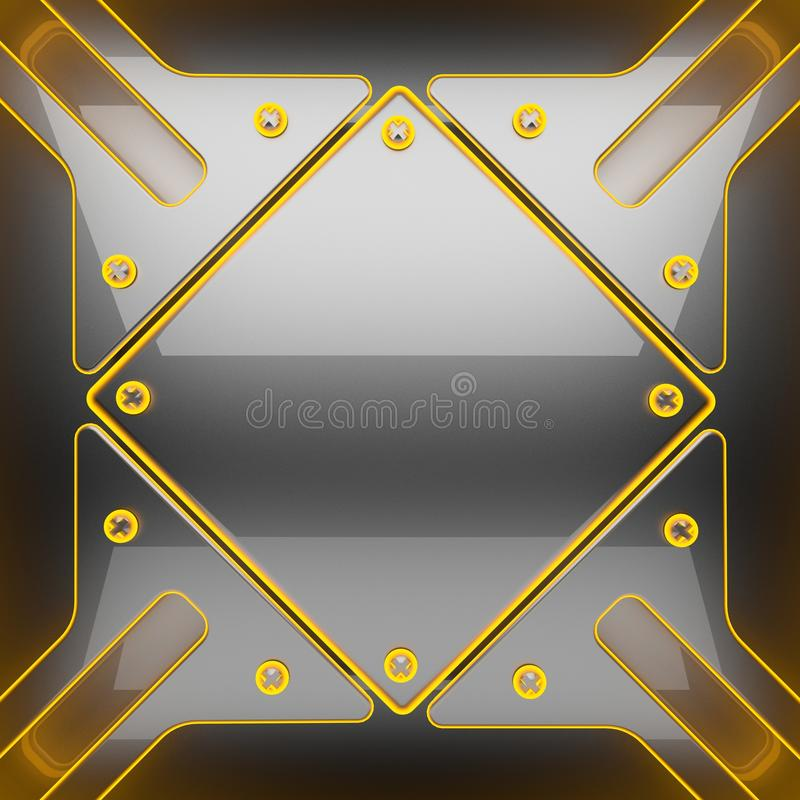 Hot gray metal background royalty free stock image