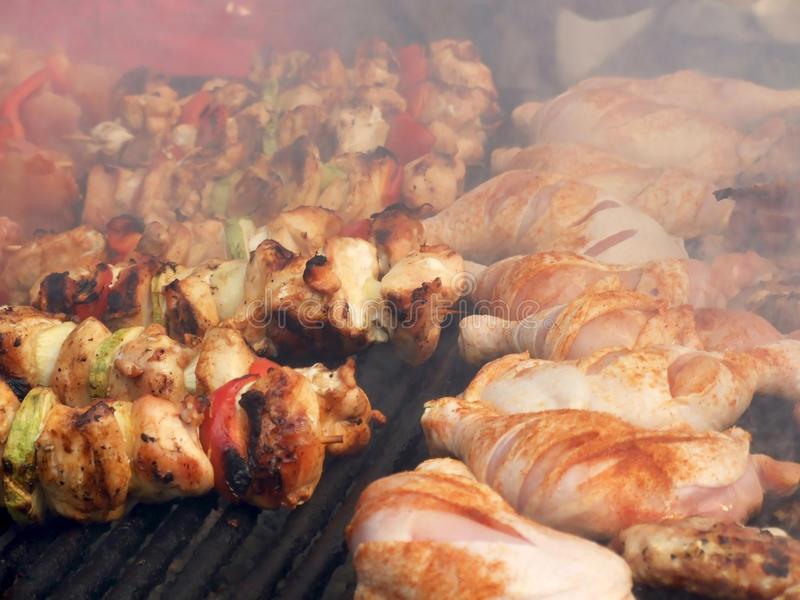 Hot grill stock images