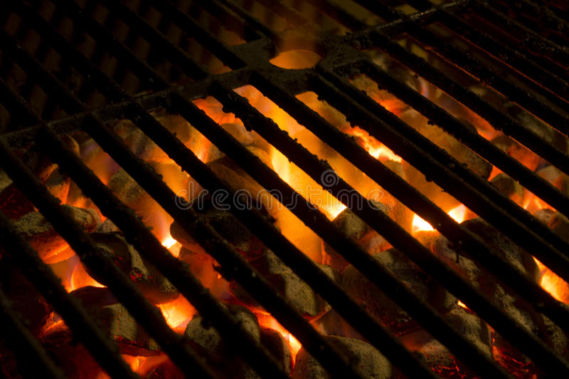 Hot grill stock photography
