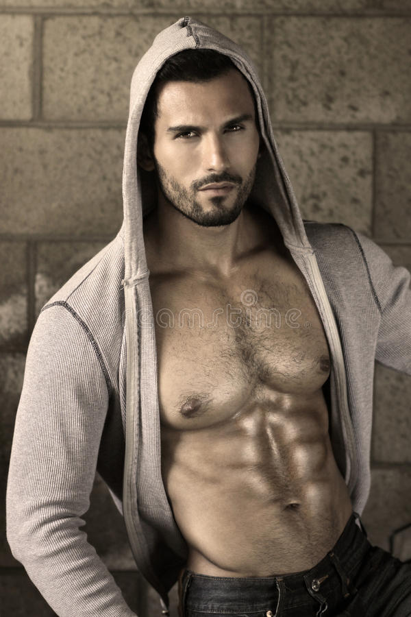 Hot guy stock image