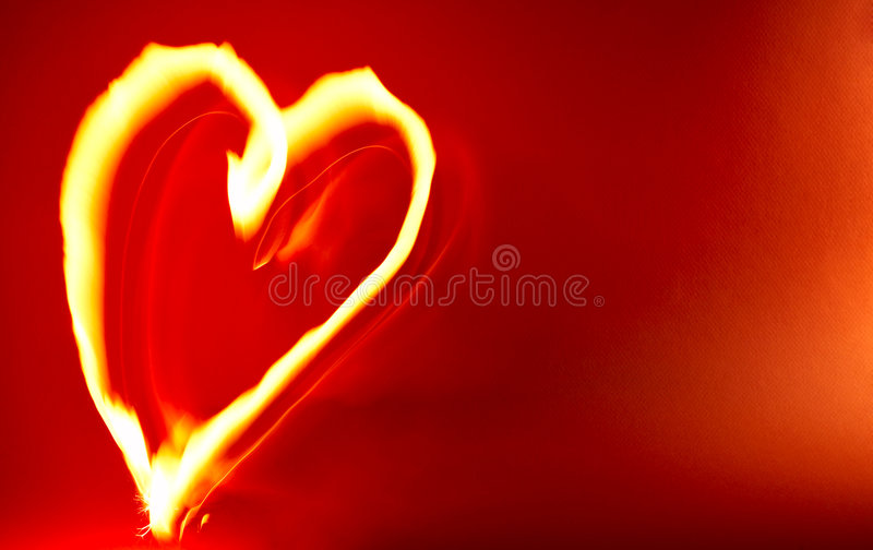Hot Heart Background. Romantic Hot Heart Background. Symbol of Love royalty free illustration