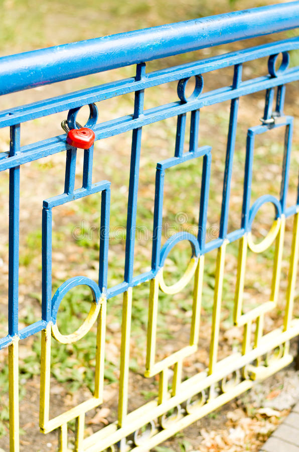 Hot heart on a fence royalty free stock photography