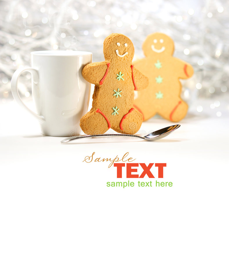 Download Hot Holiday Drink With Gingerbread Cookies Royalty Free Stock Photos - Image: 7085828