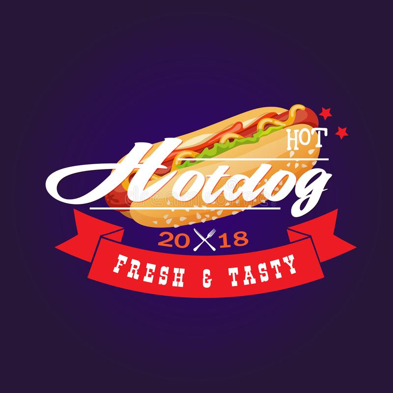 Hot Hotdog 2018 Fresh & Tasty stock photos