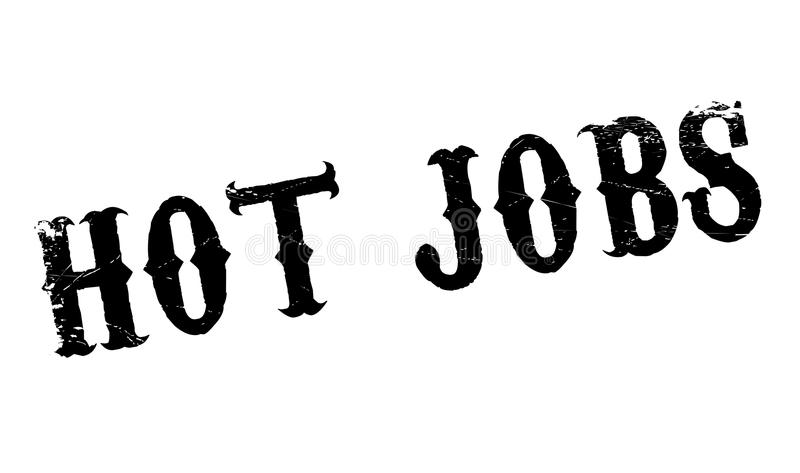Hot Jobs rubber stamp. Grunge design with dust scratches. Effects can be easily removed for a clean, crisp look. Color is easily changed royalty free illustration