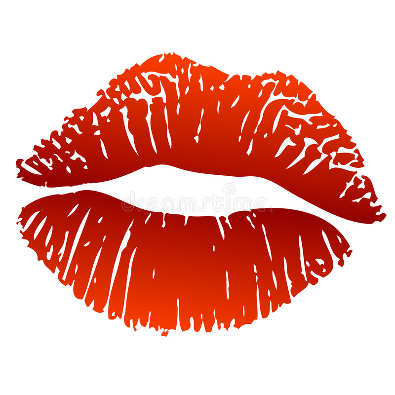 Hot kiss royalty free illustration