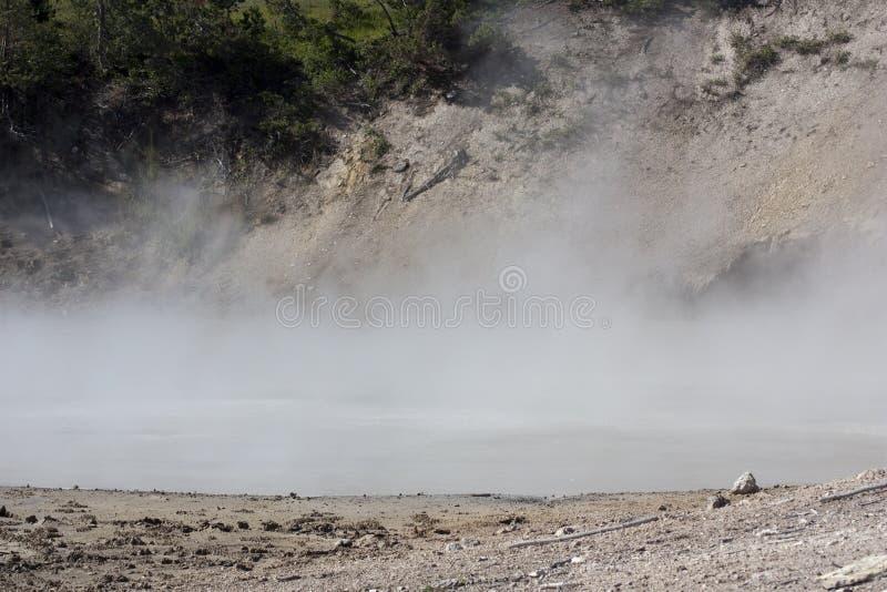 Hot lake in yellowstone royalty free stock photo