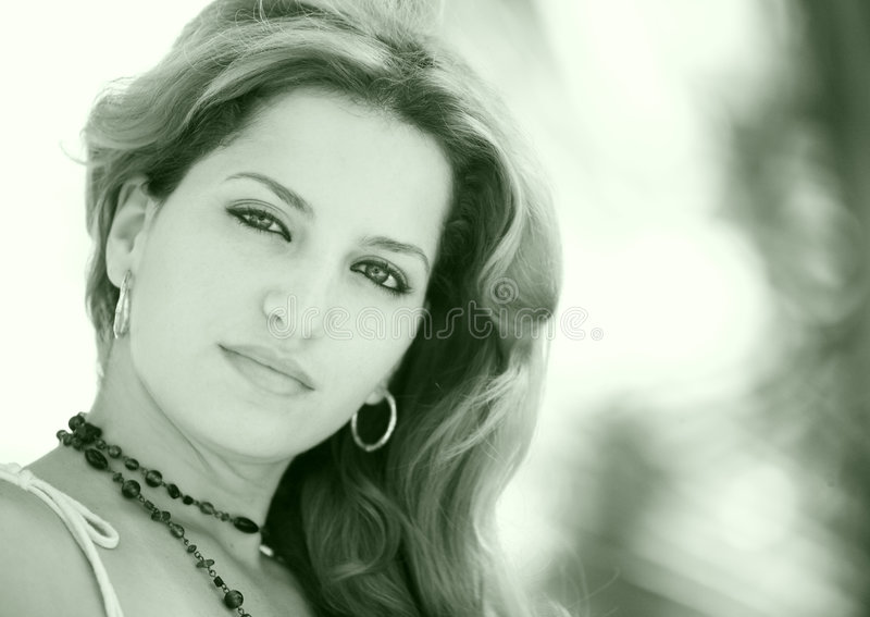 Hot latin female model royalty free stock image