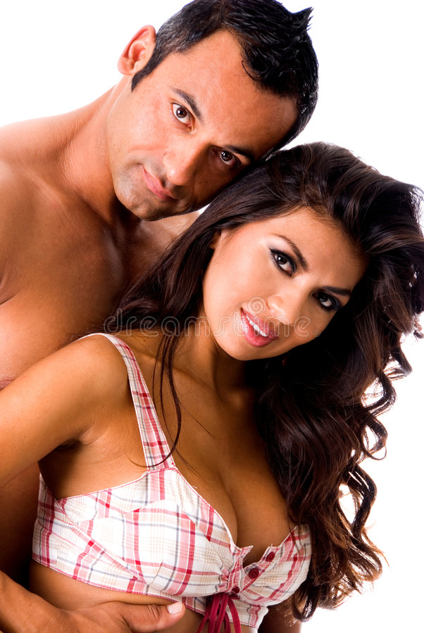 Hot Latino couple. stock photos