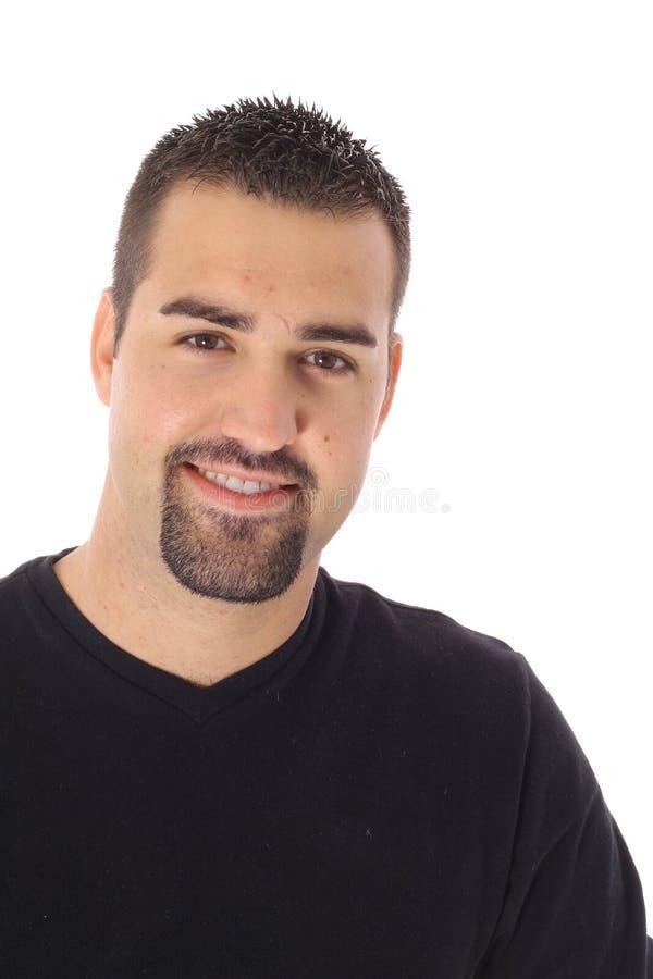 Hot latino man isolated on white royalty free stock images