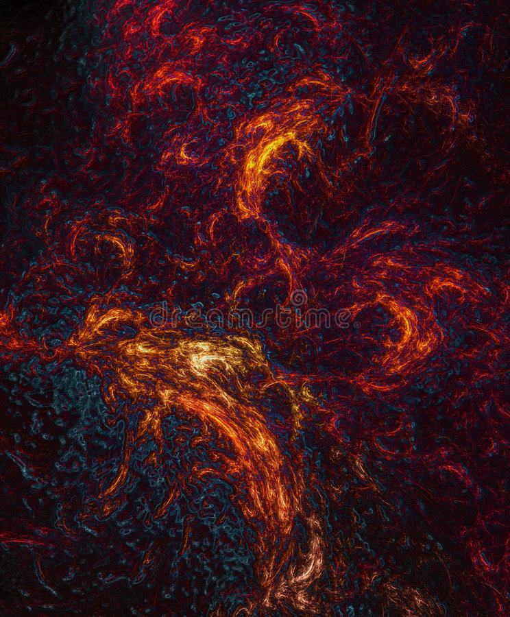 Hot lava fractal royalty free stock image