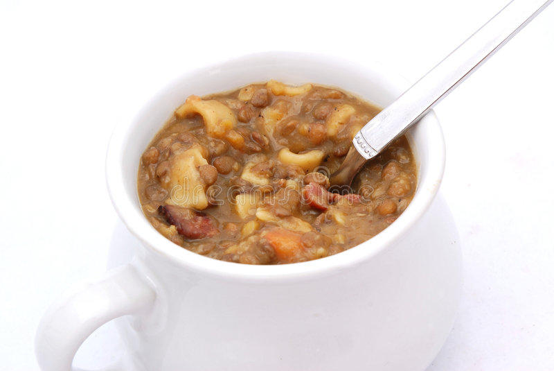 hot lentil pot στοκ φωτογραφίες