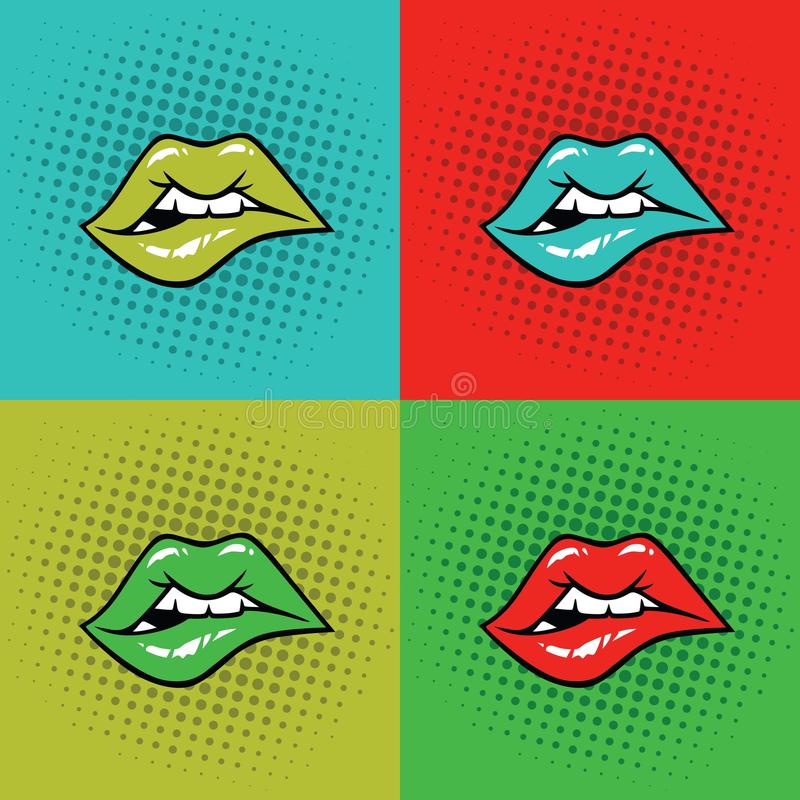 Free Hot Lips Vector Illustration Pop Art Royalty Free Stock Photography - 78524937