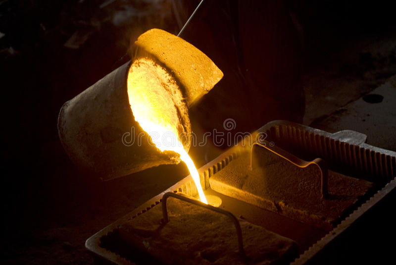 Hot Liquid Iron royalty free stock photos
