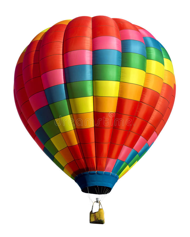Hot luftar ballongen arkivbild